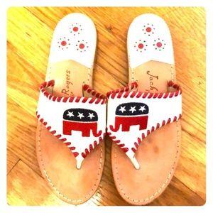 Jack Rogers Republican Party Exclusive Sandal